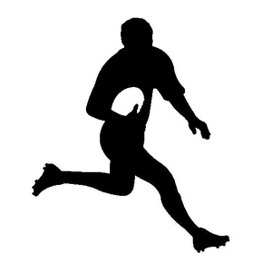 Rugby clipart black and white banner library library Rugby League Clipart | Free Images at Clker.com - vector clip art ... banner library library