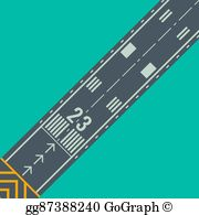 Clipart runway picture freeuse Airport Runway Clip Art - Royalty Free - GoGraph picture freeuse