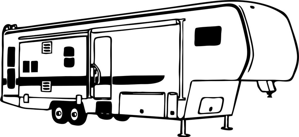 Camper outline clipart vector free download Rv Clipart | Free download best Rv Clipart on ClipArtMag.com vector free download