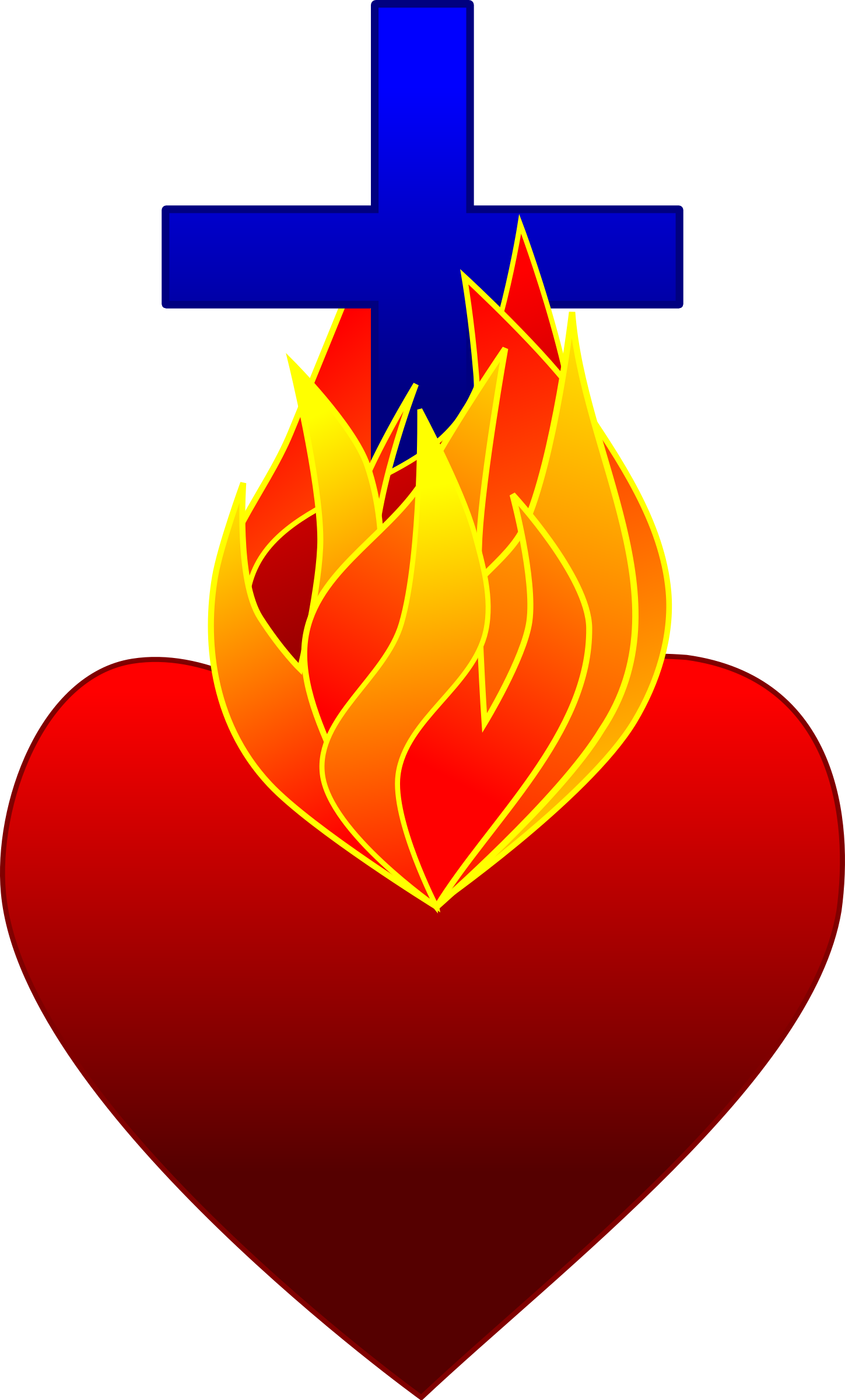Clipart sacred heart library Heart On Fire Icons PNG - Free PNG and Icons Downloads library