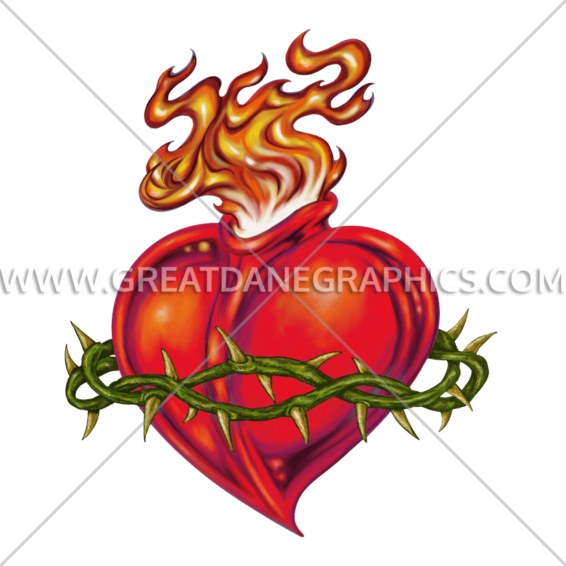 Clipart sacred heart jpg royalty free Sacred Heart | Production Ready Artwork for T-Shirt Printing jpg royalty free