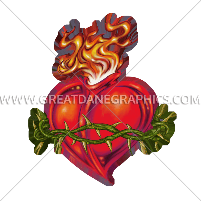 Clipart sacred heart banner freeuse stock Sacred Heart | Production Ready Artwork for T-Shirt Printing banner freeuse stock
