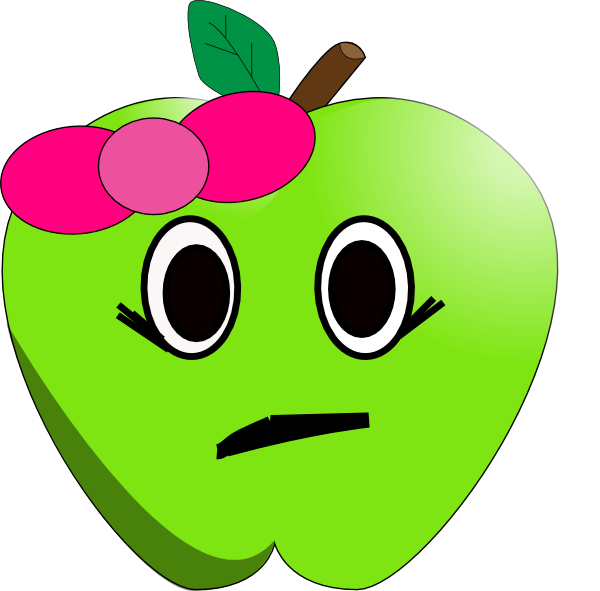 Clipart sad apple image transparent stock Sad Little Apple Clip Art at Clker.com - vector clip art online ... image transparent stock