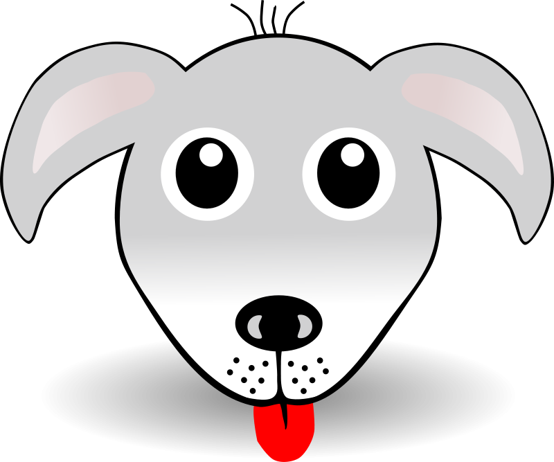 Stinky dog clipart jpg transparent Free Clipart: Funny Dog Face Grey Cartoon | Animals | open house ... jpg transparent