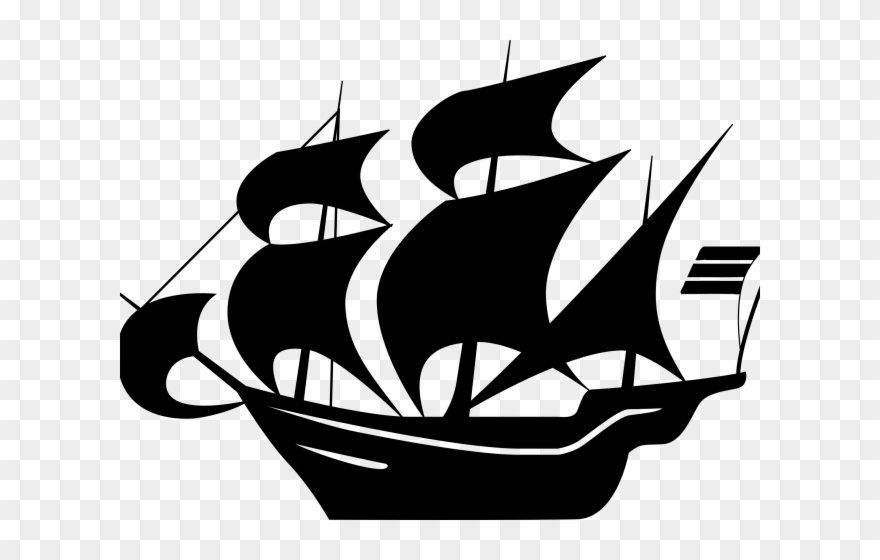 Clipart sailing ship clipart black and white download Sailing Ship Clipart Cloud - Gabon Coat Of Arms - Png Download ... clipart black and white download