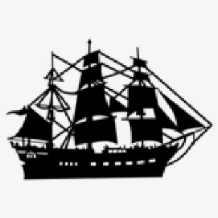 Clipart sailing ship png black and white stock Sailing Ship Clipart Pirate The Caribbean - Old Boat Clipart #154479 ... png black and white stock