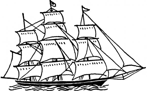 Clipart sailing ship graphic black and white stock Sailing ship Clipart :: Sailing Regattas graphic black and white stock