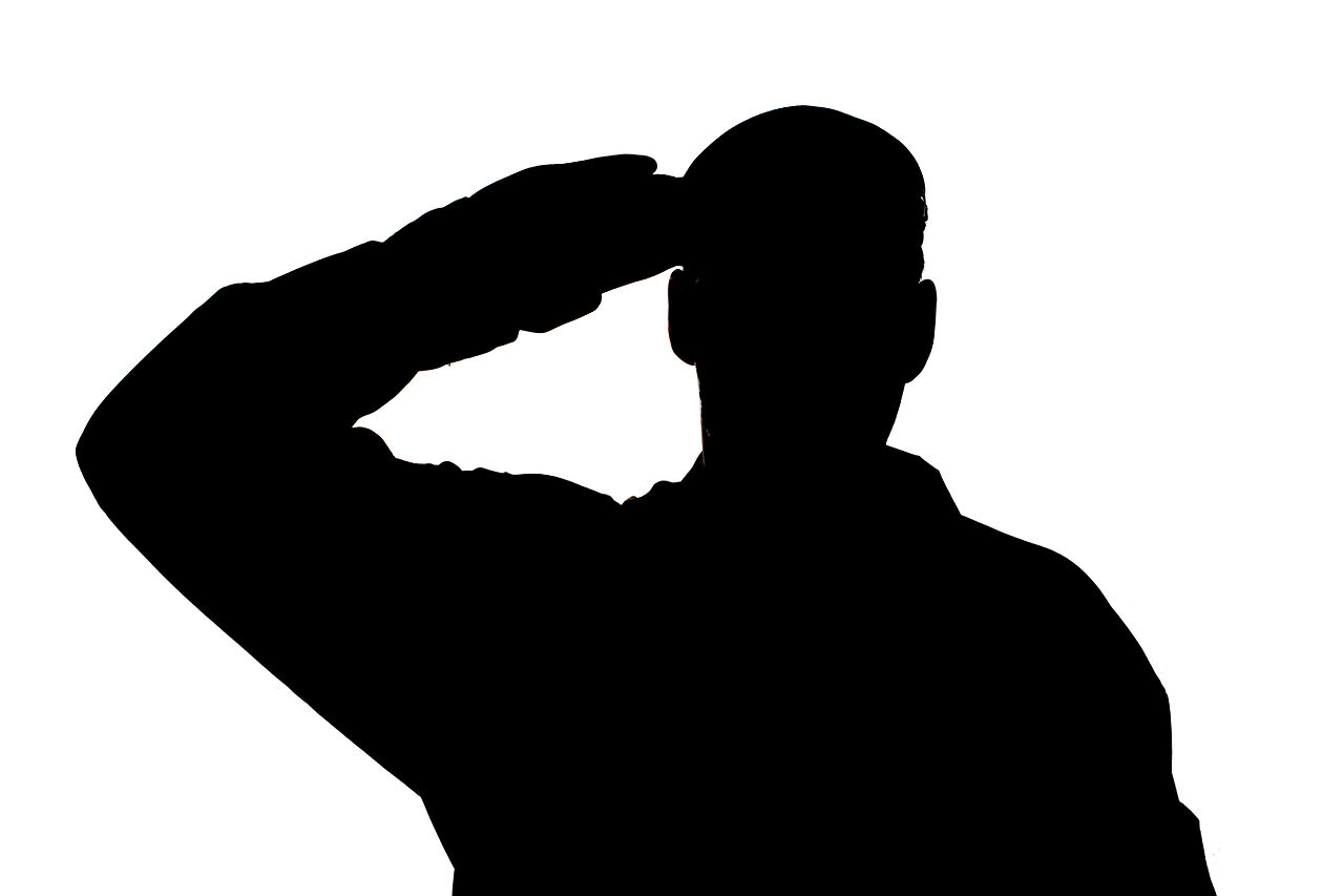 Clipart saluting vector free Free Soldier Saluting Cliparts, Download Free Clip Art, Free Clip ... vector free