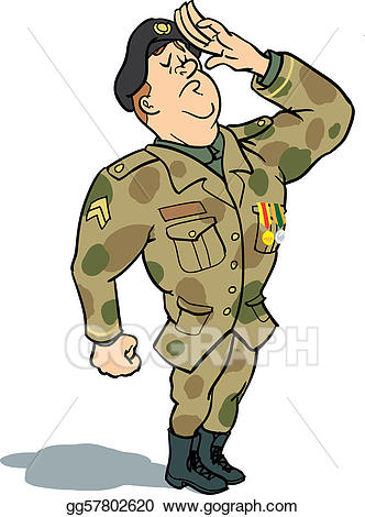 Clipart saluting clip transparent library Stock Illustrations - Soldier saluting. Stock Clipart gg57802620 ... clip transparent library
