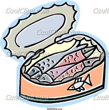 Clipart sardines graphic free stock can of sardines | Clipart Panda - Free Clipart Images graphic free stock