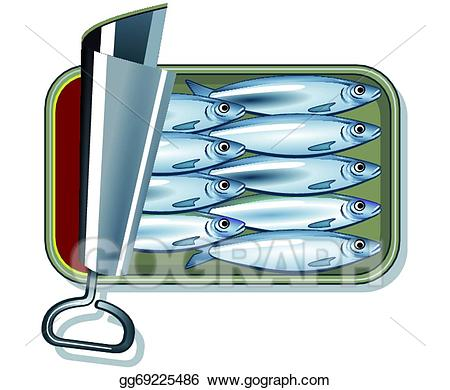 Clipart sardines picture transparent download Vector Illustration - Sardines in oil . EPS Clipart gg69225486 - GoGraph picture transparent download