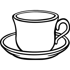 A cup with saucer clipart, cliparts of A cup with saucer free ... png free