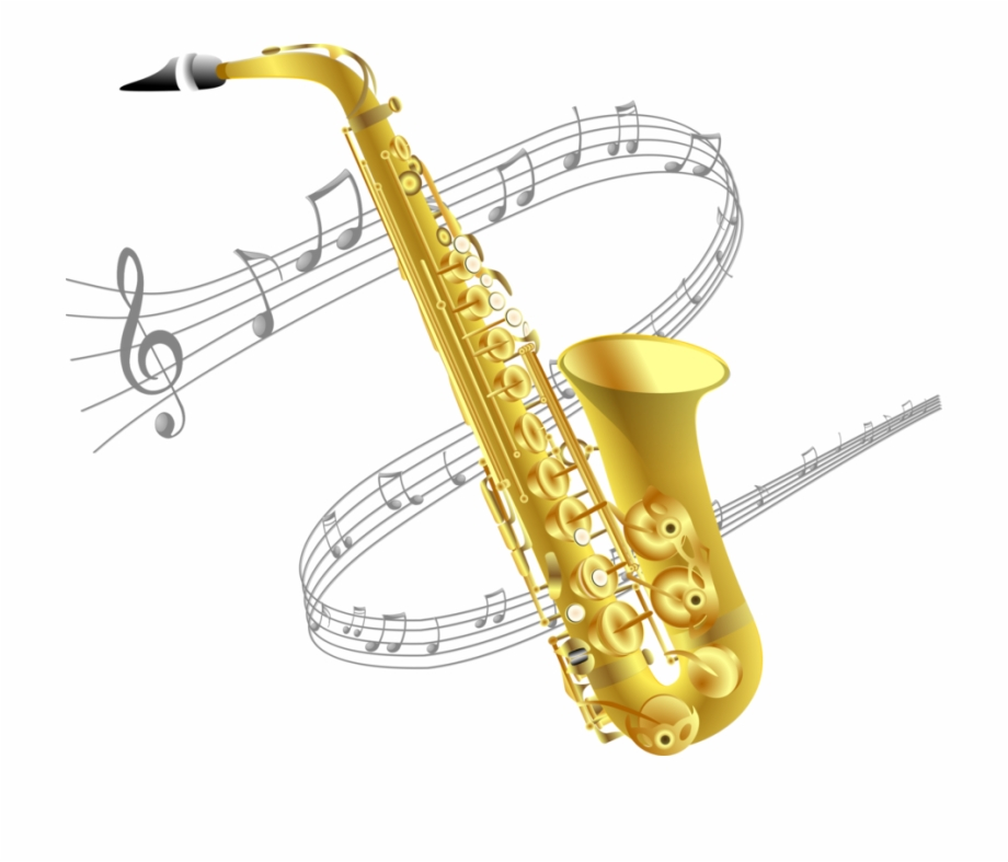 Saxofono clipart picture library Baritone Saxophone Drawing Musical Instruments - Transparent ... picture library