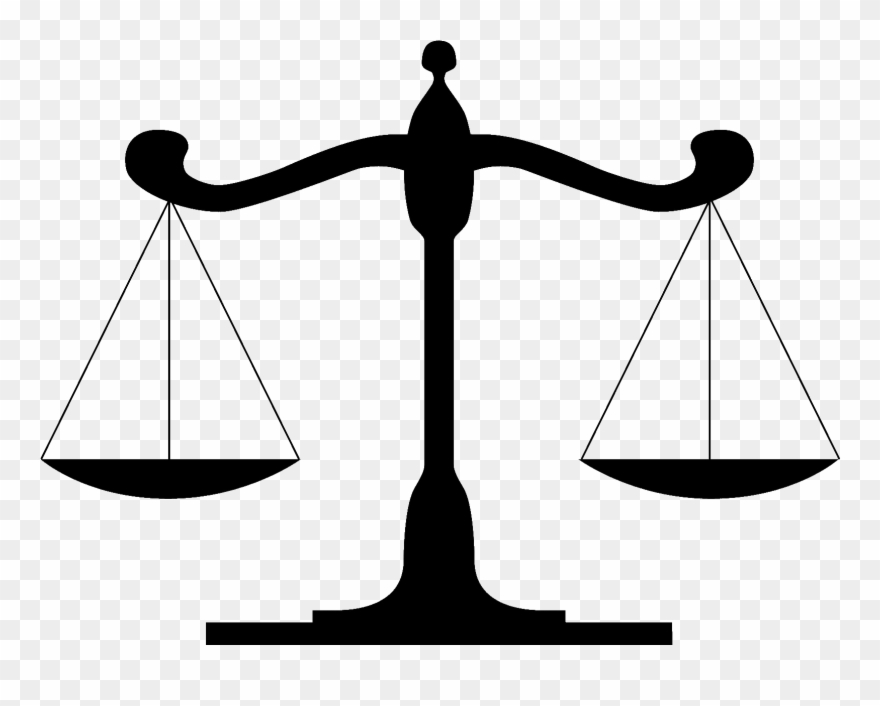 Scales of justice black and white clipart freeuse library Scale Clipart Law Firm - Scales Of Justice - Png Download (#1261225 ... freeuse library
