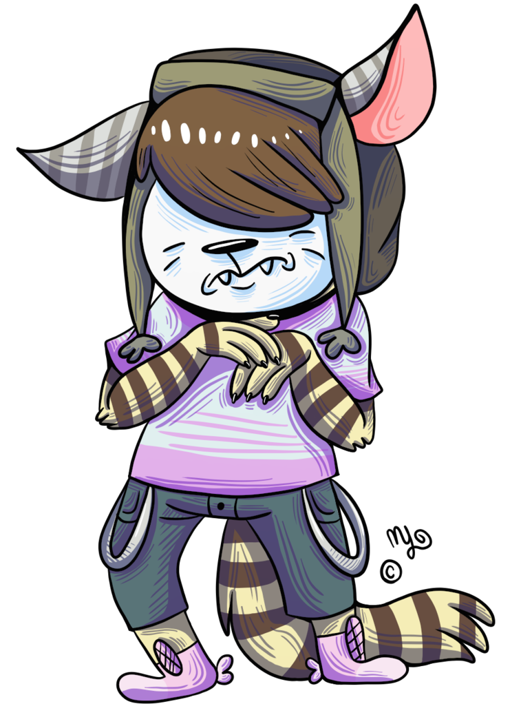 Scaredy Cat Boy (art slave art) by Angry-Baby on DeviantArt png free download