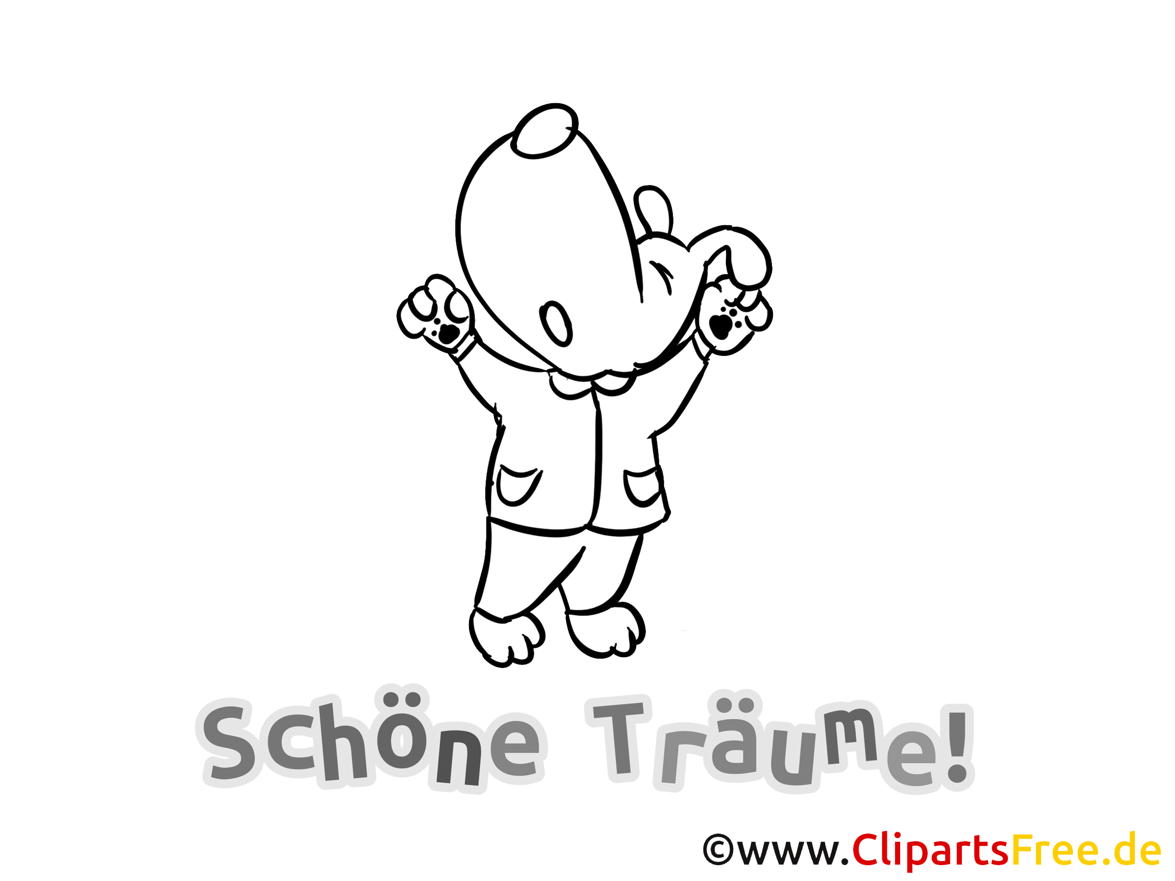 Clipart schlaf gut image royalty free download Schlaf gut Bild zum Download und Ausmalen image royalty free download