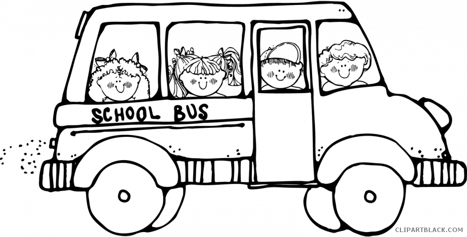 Clipart school bus black and white banner freeuse School Bus Clipart - ClipartBlack.com banner freeuse