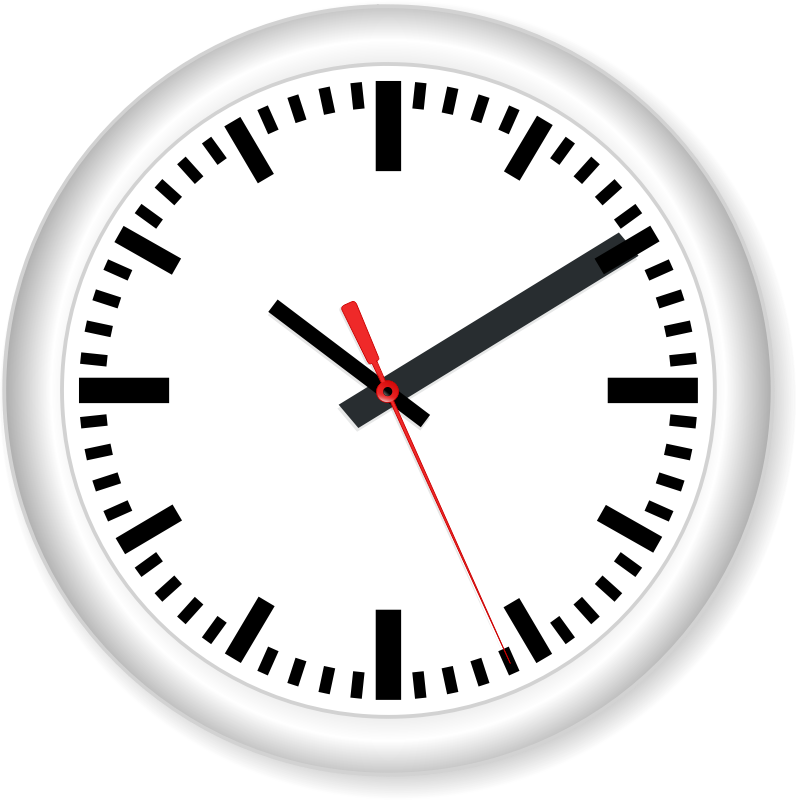 Clock free to use cliparts - Clipartix clip black and white stock