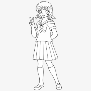 Clipart school girl in black and white image transparent Free School Girl Clipart Black And White Cliparts, Silhouettes ... image transparent