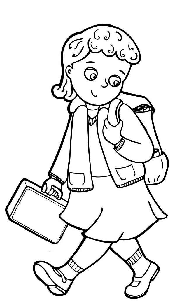 Clipart school girl in black and white picture transparent library School girl clipart black and white 14 » Clipart Station picture transparent library
