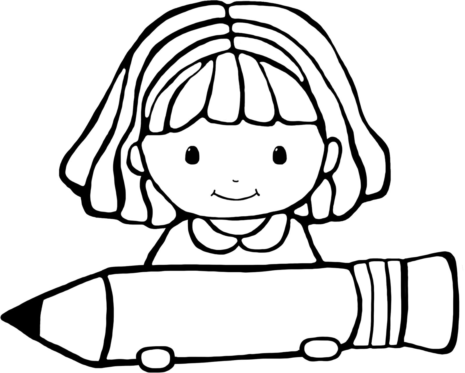 Clipart school girl in black and white black and white library Download Free png School girl clip art black and white library black ... black and white library
