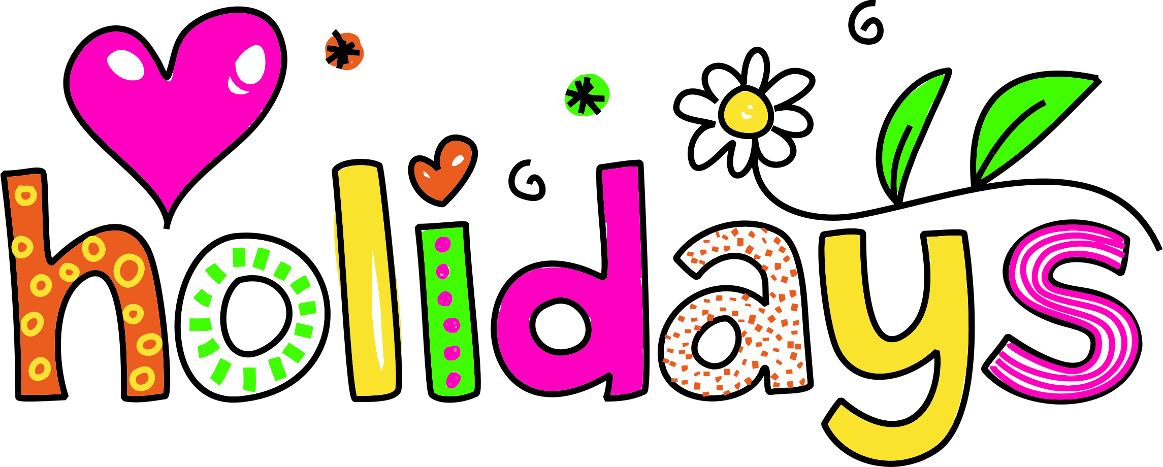 School holiday clipart png Clipart - Holidays Typography png