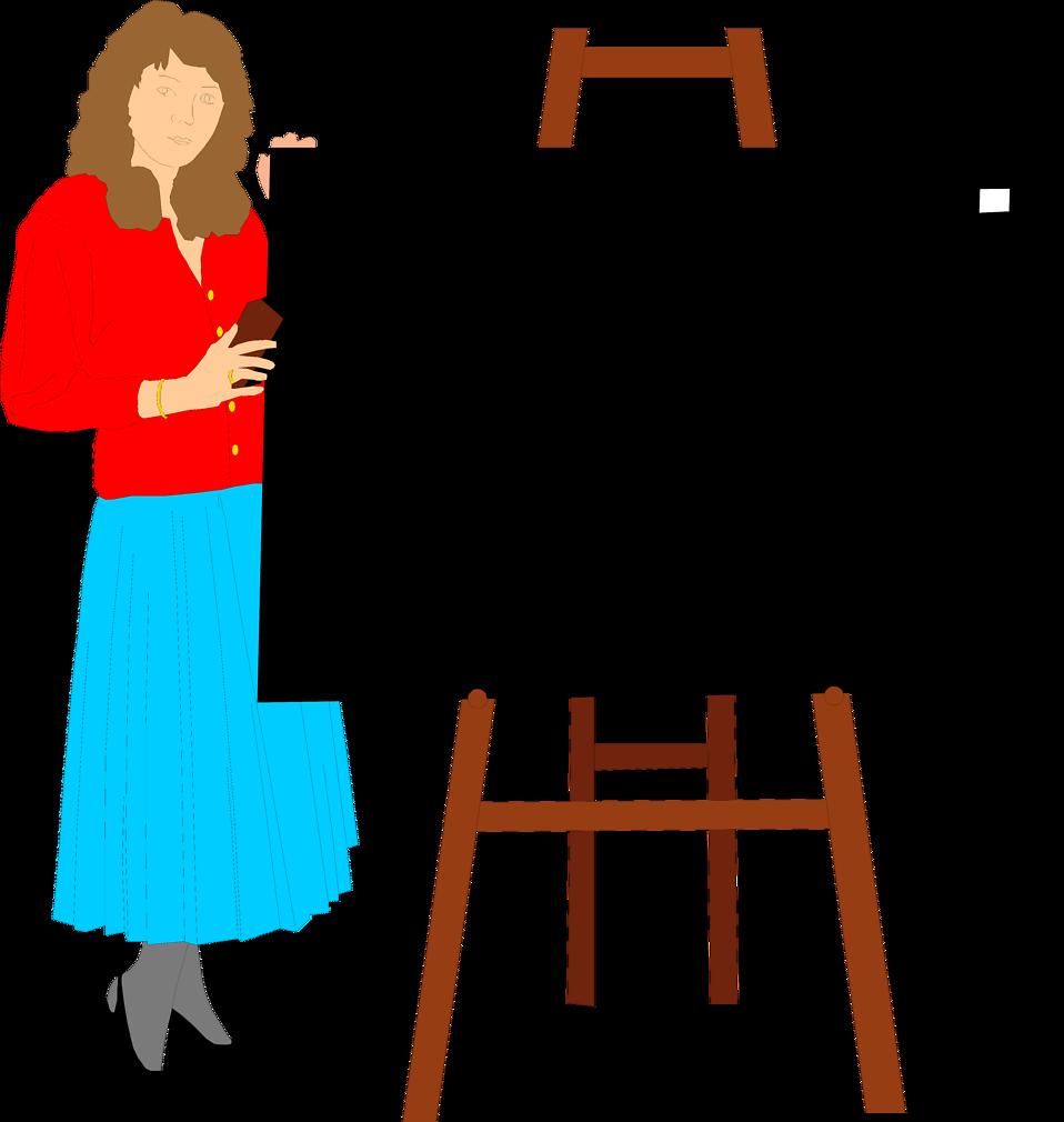 Clipart school teacher clip Teacher | Free Stock Photo | Illustration of a teacher with a blank ... clip