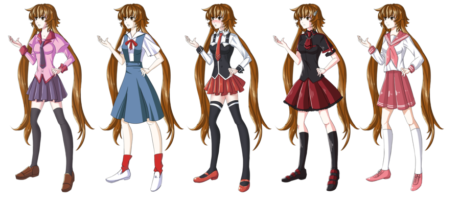 Clipart school uniforms clip royalty free stock Hikari Cosplay:School Uniforms by Hikari-chyan on DeviantArt clip royalty free stock