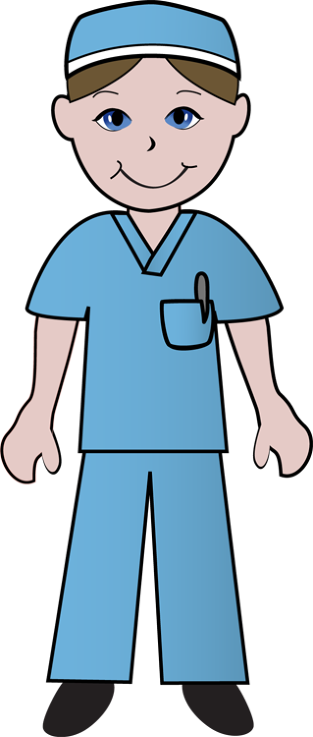 Clipart school uniforms clip transparent library Free Clip Art Of Doctors and Nurses: Nurse in Blue Scrubs | ETC ... clip transparent library