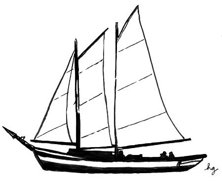 Clipart schooner image royalty free Simple Sailboat Drawing   Clipart Panda - Free Clipart Images   FM ... image royalty free