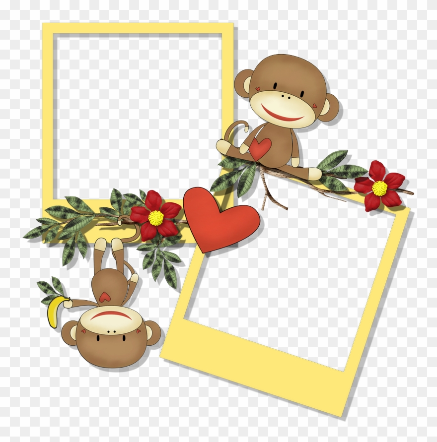 Clipart scraps picture free Cheyokota Digital Scraps - Monkey Photo Frame Png Clipart (#213866 ... picture free