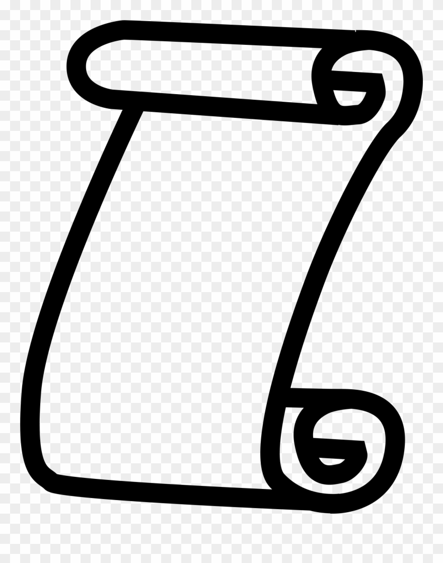 Clipart scroll jpg black and white stock Scroll Icon Throughout Scroll Clipart - Scroll Icon Png Transparent ... jpg black and white stock