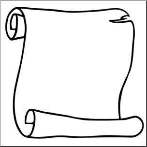 Clipart scroll banner Clip Art: Scroll 2 B&W I abcteach.com | abcteach banner