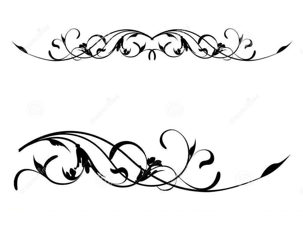 White scroll border clipart jpg transparent Scroll Border Clipart Worksheet 4999 - Clipart1001 - Free Cliparts jpg transparent