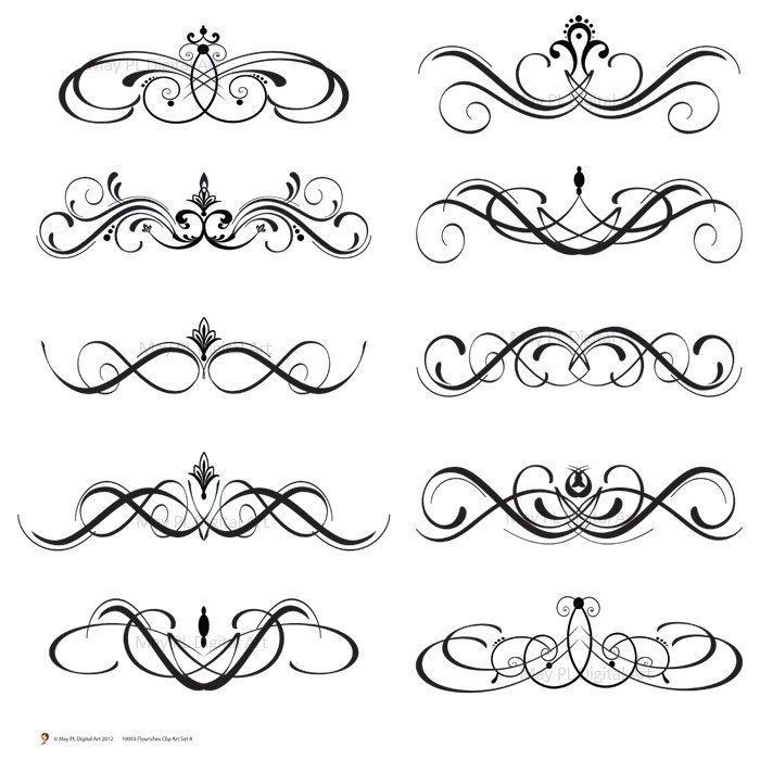 Clipart scrool flourish jpg royalty free stock flourish swirls - Google Search | Christmas: Painted items | Scroll ... jpg royalty free stock