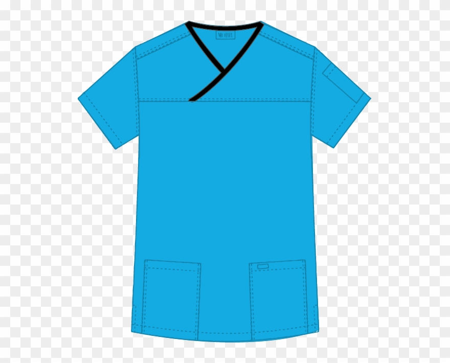Clipart scrubs clip art black and white Mobb Medical Wear Criss Cross Scrub Top Png Scrub Shirt - Supreme ... clip art black and white