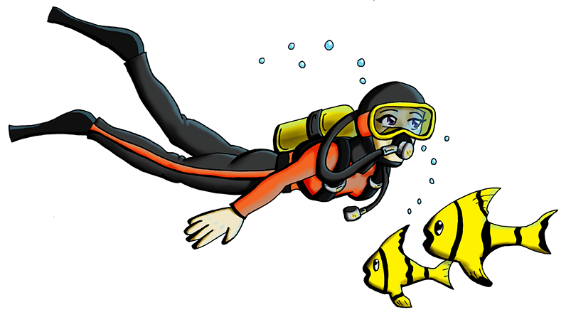 Clipart scuba diving graphic free stock Cartoons scuba diving clipart images gallery for free download ... graphic free stock