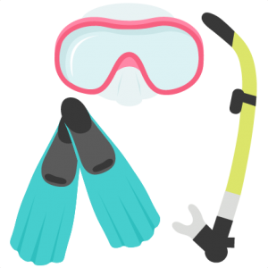 Clipart scuba gear picture freeuse Snorkel Gear Set SVG scrapbook cut file cute clipart files for ... picture freeuse