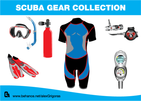 Clipart scuba gear transparent stock Free Scuba Gear Collection Clipart and Vector Graphics - Clipart.me transparent stock