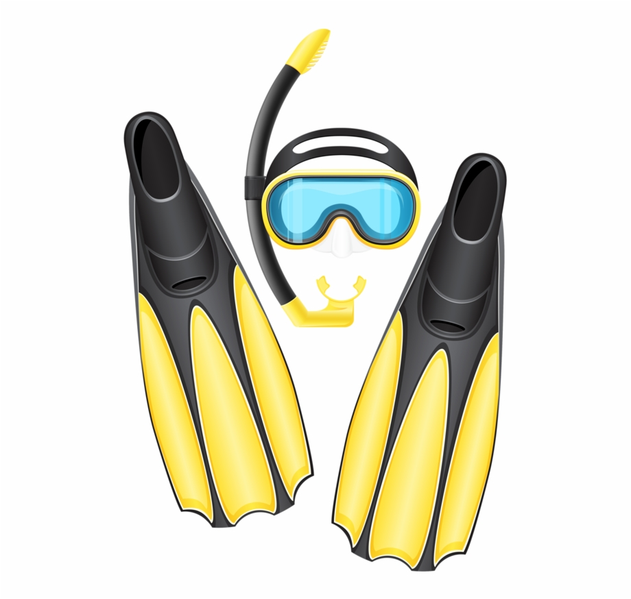Clipart scuba gear vector free library Фотки Scuba Gear Mask Flippers - Scuba Diving Gear Clipart ... vector free library
