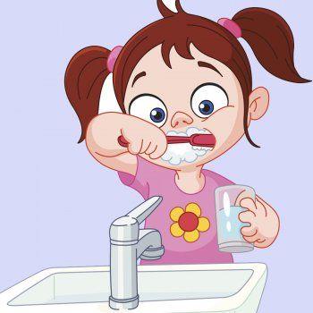 Clipart se quita el diente svg Cuando me levanto. Poema didáctico para niños | Aprendizaje escolar ... svg