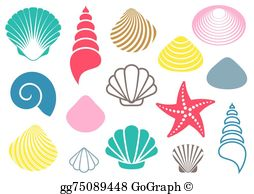 Seshell clipart clip free download Seashell Clip Art - Royalty Free - GoGraph clip free download