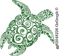 Turtle in the oceab clipart clip royalty free stock Sea Turtle Clip Art - Royalty Free - GoGraph clip royalty free stock