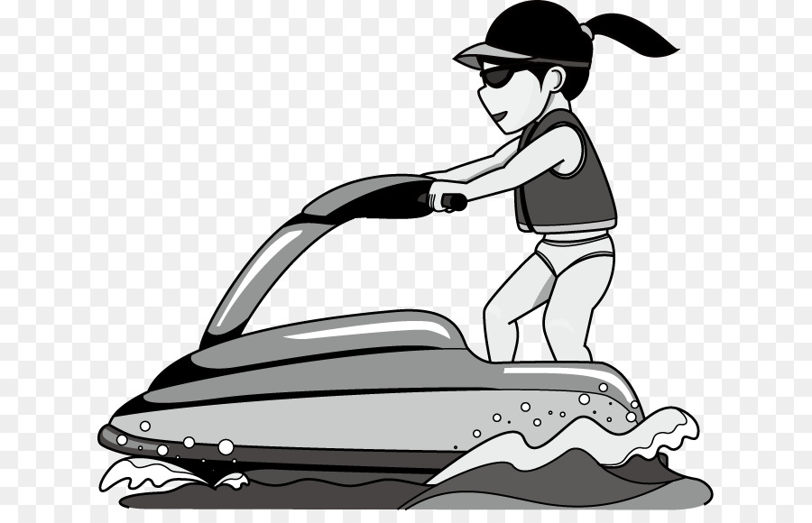 Clipart sea-doo black and white png freeuse Personal Water Craft Black And White png download - 683*567 - Free ... png freeuse