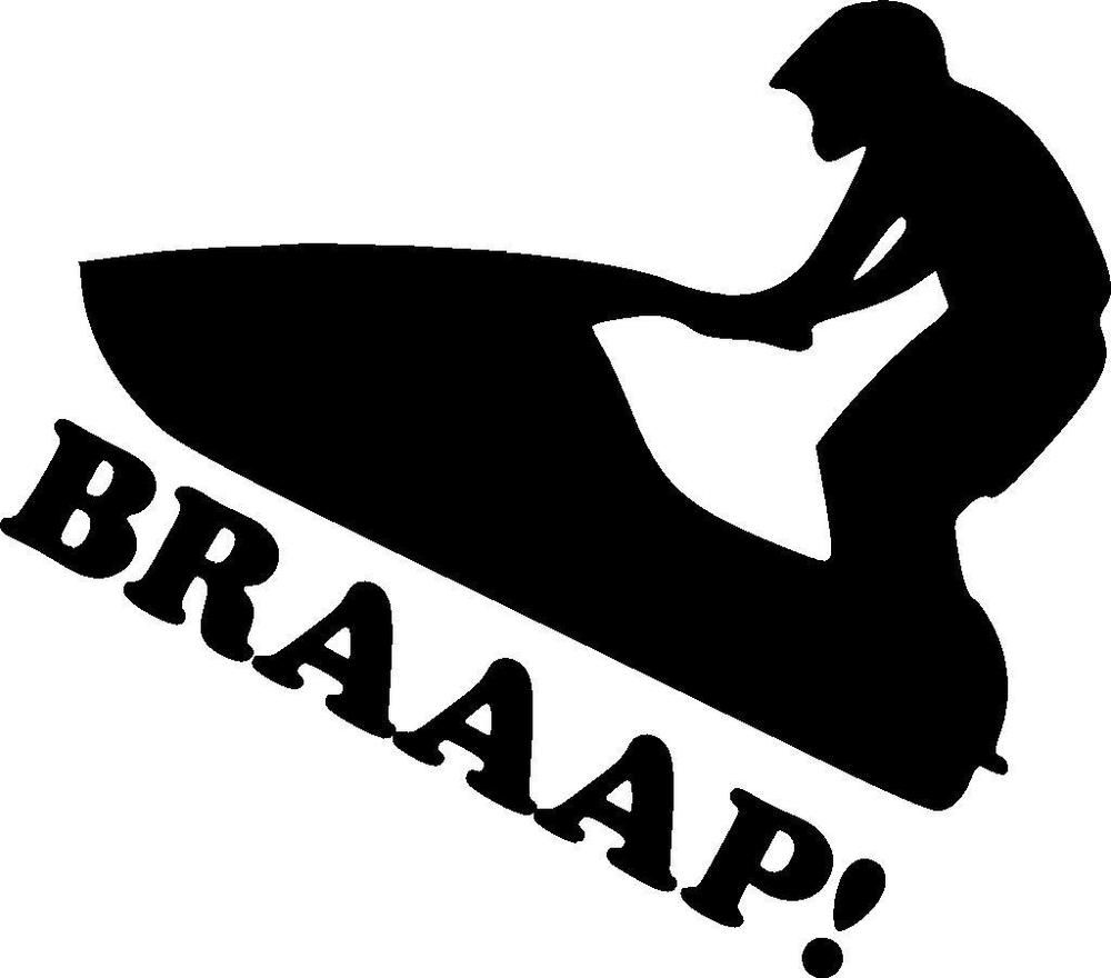 Clipart sea-doo black and white clip art freeuse Details about Jet Ski PWC BRAAAP! Waverunner Sea-Doo Stand up vinyl ... clip art freeuse