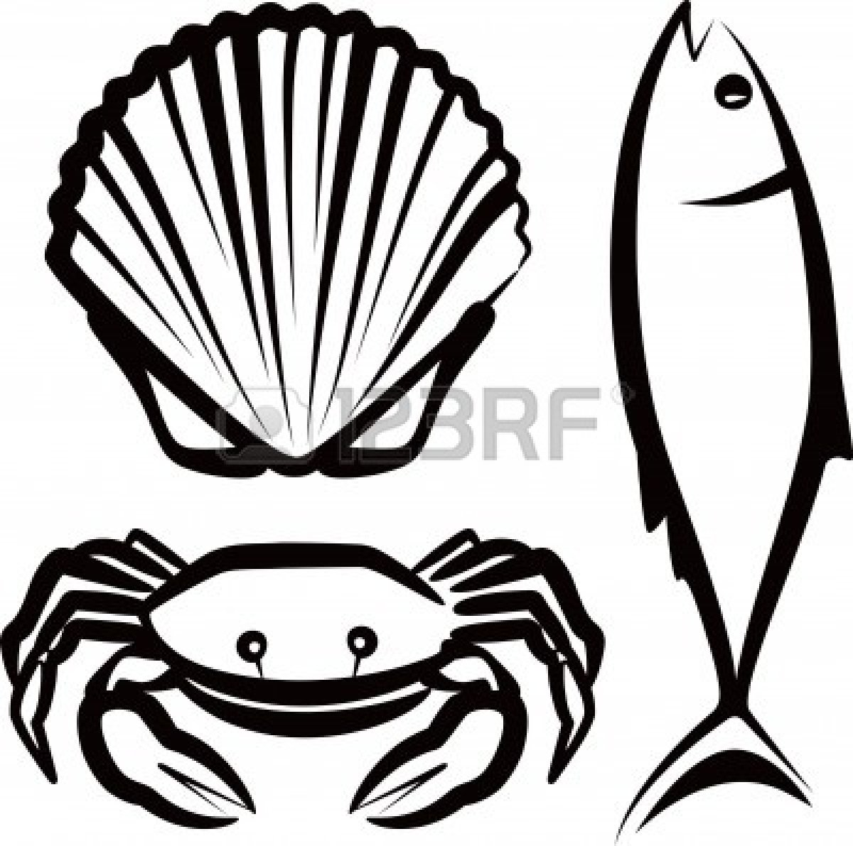 Seafood free clipart vector library stock Seafood Clipart Free | Clipart Panda - Free Clipart Images vector library stock