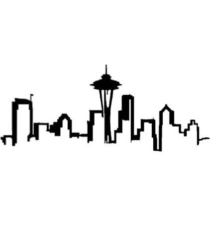 Seattles clipart freeuse download Seattle Skyline Outline - ClipArt Best | Tattoo Brainstorm | Skyline ... freeuse download