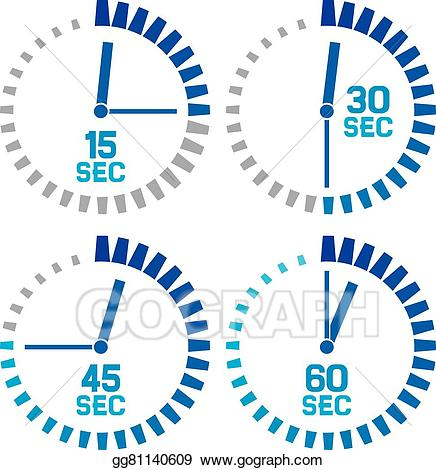 Clipart seconds clip library library Vector Art - Seconds clock icons. EPS clipart gg81140609 - GoGraph clip library library