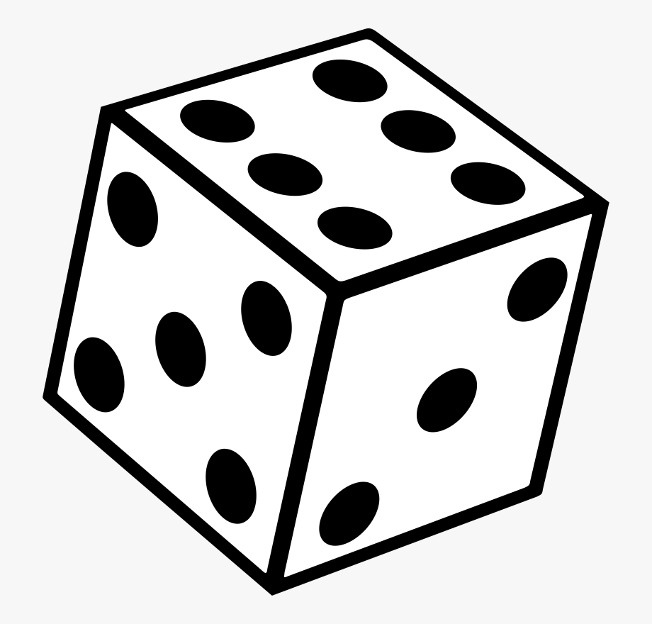 Clipart seconds clipart free stock Dice Seconds Black White - Six Sided Die Png , Transparent Cartoon ... clipart free stock