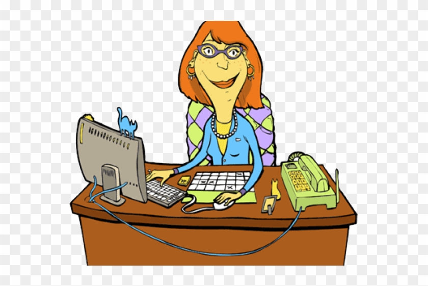 Clipart secretary doing it all graphic black and white library School Secretary Clipart, HD Png Download - 640x480(#2470877) - PngFind graphic black and white library